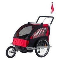 Elite Double Child Bike Trailer, Red