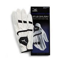 Mizuno Elite Glove, Left, White/Black, Medium/Large