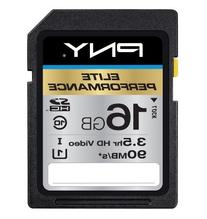 PNY Elite Performance 16GB High Speed SDHC Class 10 UHS-1 Up