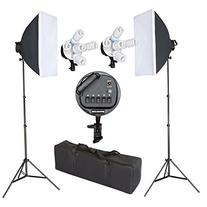 Emart 2250W Photography Five Light Head Softbox Continuous