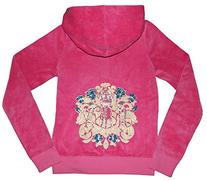 Juicy Couture Girls Embellished T-shirt or Velour Hoodie