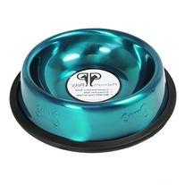 8 oz. Embossed Cat Bowl - Color: Teal