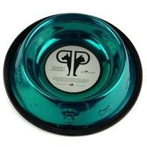 Embossed Dog Bowl in Teal - Size: 64 oz