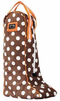 Equine Couture Emma Boot Bag Chocolate Burnt Orange