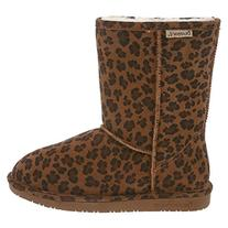 BEARPAW Women's Emma Short Winter Boot, Hickory Leopard, 8 M