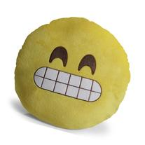OxGord Emoji Grin Pillow Throw Pillow