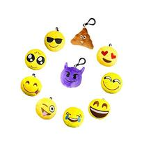 MelonBoat Emoji Mini Plush Pillows, Keychain Decorations,