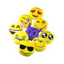 MelonBoat Emoji Plush Pillow Decorations, Party Supplies