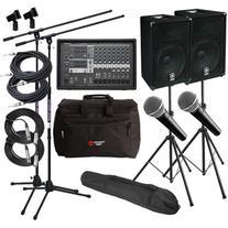 Yamaha EMX312SC Mixer BUNDLE w/BR15 Speakers, Mics