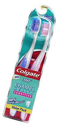Colgate Enamel Health Sensitive Toothbrush, Extra Soft , 2