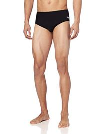 Speedo Men's Endurance+ Solid Brief Swimsuit, Black, 32