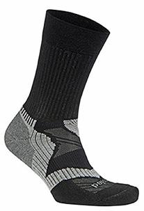 Balega Enduro V-Tech Crew Socks, Black/Grey, Large