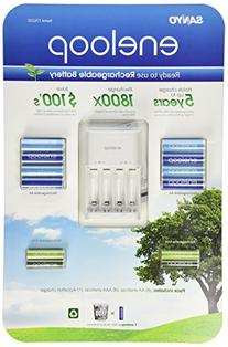 Sanyo Eneloop Ni-MH Charger and 8 Rechargeable AA and 4