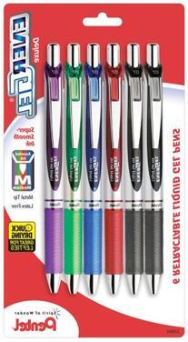 Pentel EnerGel Deluxe RTX Gel Ink Pens, 0.7 Millimeter Metal