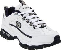 Skechers Men's Energy Afterburn Lace-Up Sneaker,White/Navy,