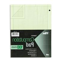Engineering Computation Pad, Quad Rule, Letter, Green, 100
