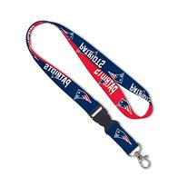 NFL New England Patriots Lanyard with Detachable Buckle, 3/4