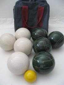 Premium Quality Engraved Bocce Package - 110mm Epco White