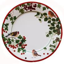Entertaining with Caspari Winter Birds Paper Dinner Plates,