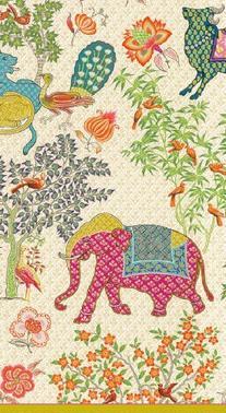 Caspari Entertaining 15-Pack Le Jardin De Mysore Guest