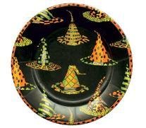 Caspari Entertaining Witches Hats Salad/Dessert Plates, 8-