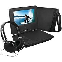 Ematic EPD707BL Portable 7-Inch DVD Player with Headphones