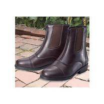 Saxon Ladies Equileather Zip Paddock 7.5 Black