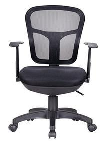 Office Factor Ergonomic Black Mesh Desk Chair Lumbar Support