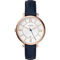 Fossil ES3843 Jacqueline Rose Gold-Tone Watch with Navy