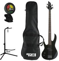 ESP LTD B-10 BLK 4 String Electric Bass Guitar Kit w/Gig Bag