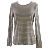 BODEN Women's Essential Scoopneck LS Tee US Sz 12 Grey/