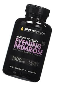 Evening Primrose Oil 1300mg 120 Liquid Softgels, Cold-