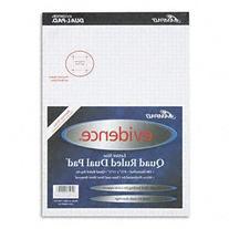 Ampad® Evidence® Quad Dual Pad® PAD,QUAD DUAL 4SQ,WHT