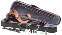 Stagg EVN 4/4 VBR Silent Violin Set with Case - Violinburst