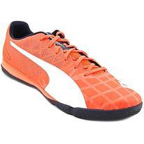 PUMA Men's Evospeed Sala 3.4 Soccer Shoe, Lava Blast/White/