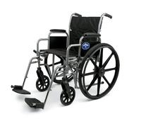 Medline K1 Wheelchair with Desk-Length Arms and Swing-Away