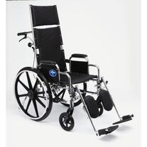 "Medline Reclining Wheelchair, 22"" Wide Seat, Desk Length"