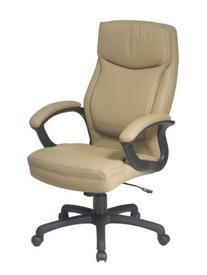 Executive Eco Leather Chair with Color Match Stitching Brown