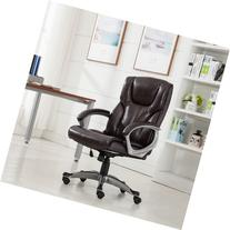 Belleze© Executive Mocha Modern High-Back Leather Chair