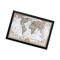 Executive World Push Pin Travel Map with Black Frame and