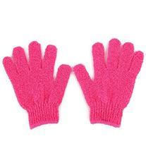BelleSha Exfoliating Bath Gloves Red 1 pair