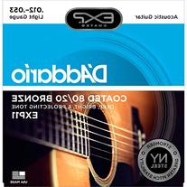 D'Addario EXP11 with NY Steel Acoustic Guitar Strings, 80/20