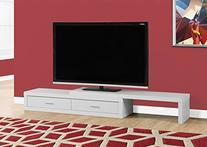 "Monarch Expandable TV Stand, White, 60"" to 98"
