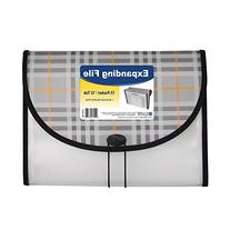 "C-Line Expanding File, Plaid, Letter, 13 Pockets, 1.5"" Exp,"