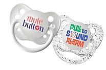 Ulubulu Expression Pacifier Set, Unisex, Mute Button and