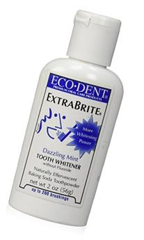 Eco-Dent Extra Brite Tooth Whitener, Without Fluoride,