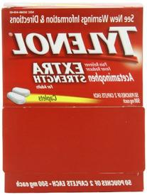 Tylenol Extra Strength Caplets with Acetaminophen for Fever