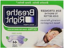 Breathe Right Extra Clear for Sensitive Skin, 44 Count  ,