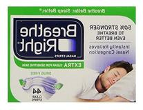 Breathe Right Extra Clear Nasal Strips Drug Free Sensitive