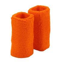 Extra Long Terry Wrist Band Pair- Orange